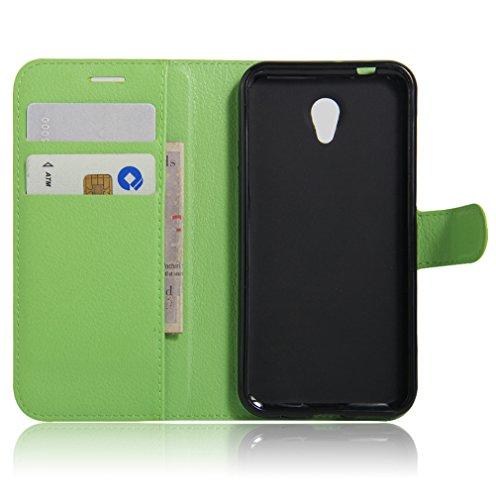 Funda Vodafone smart prime 7 VF600,Manyip Caja del teléfono del cuero,Protector de Pantalla de Slim Case Estilo Billetera con Ranuras para Tarjetas, Soporte Plegable, Cierre Magnético F