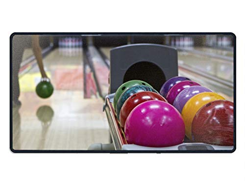 Colored Bowling Balls Professional Large Mouse Pad & Computer Game Mouse Mat 15.7