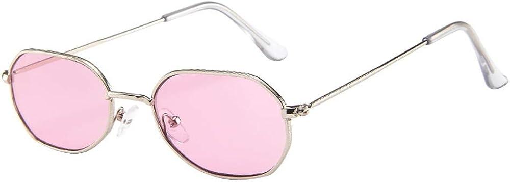 FRAUIT Occhiali Da Sole Vintage Piccoli Occhiali Da Vista Donna Ovali Montatura in Metallo Super Light Retro Stile