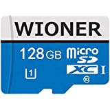 WIONER 128GB Micro SD Card High Speed Class 10 SDXC Memory Card Action Cameras, Phones, Tablets PCs