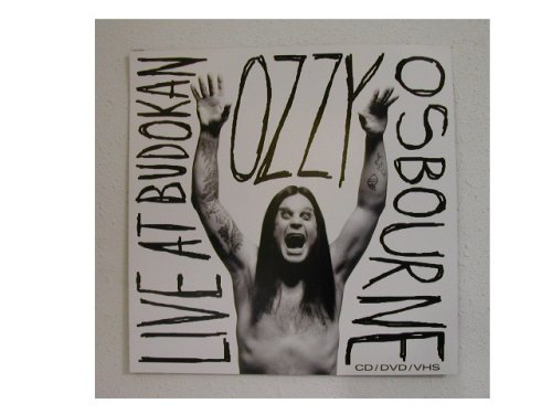 Ozzy Osbourne Poster Flat Black Sabbath