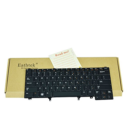 Eathtek Replacement Keyboard Non-Backlit with Pointer for Dell Latitude E5430 E6230 E6330 E6430 ATG E6320 E6420 E5420 E6430s Series Black US Layout