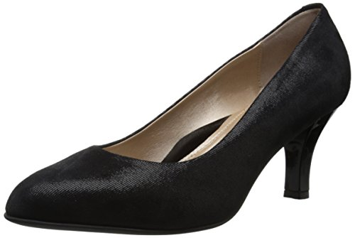 BeautiFeel Womens Topaz Dress Pump Black Mesh Solid
