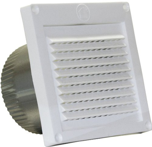 Speedi-Products EX-EVML 04 4-Inch Diameter Micro Louver Eave Vent, White ()