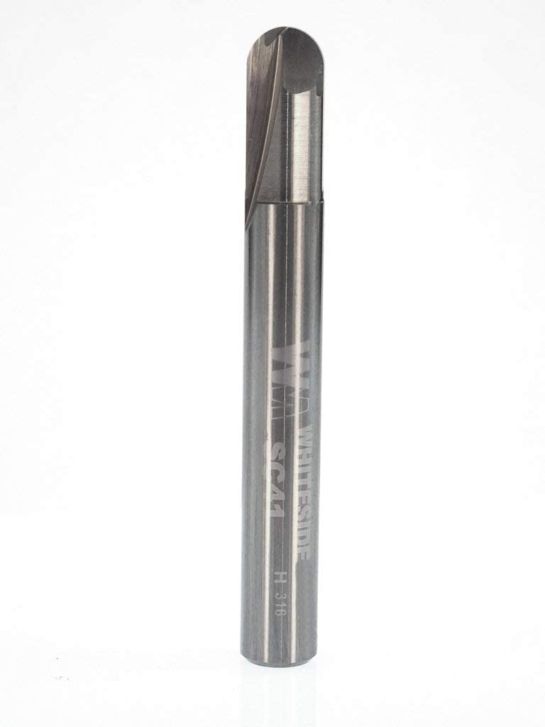 Whiteside Router Bits SC39 Round Bottom Veining Bit with Solid Carbide 1//16-Inch Radius and 1//8-Inch Cutting Diameter