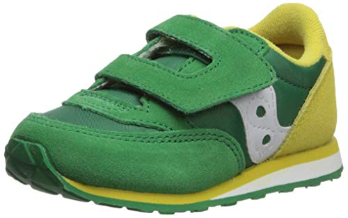 - Saucony Boys' Baby Jazz HL Sneaker, Green/Yellow, 070 Medium US Toddler