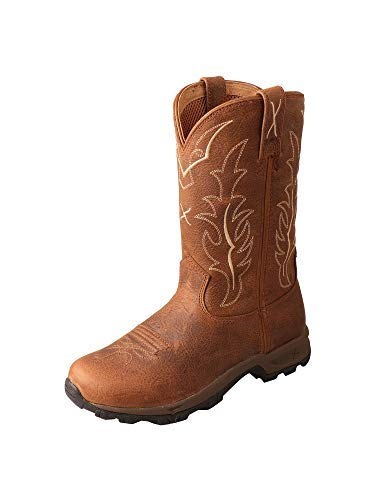 (Twisted X Women's 10-Inch D Toe Embroidered Western Pull-On Hiking Boots - Rust)