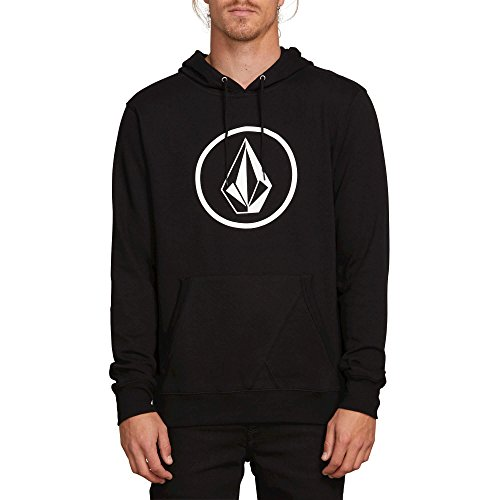 Volcom Mens BRASSTACKS Pullover Hooded Fleece Sweatshirt - Volcom Black Hoodie