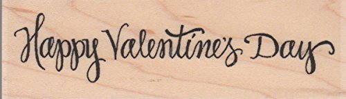 Happy Valentine's Day Wood Mounted Rubber Stamp (D19042) ()