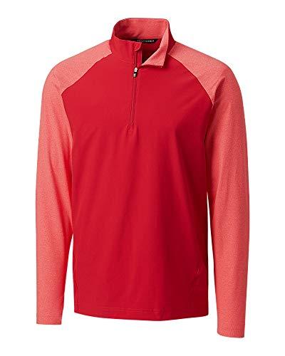 Cutter & Buck MCC00006 Men's Response Hybrid Overknit Sweater, Red - XXXL