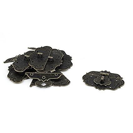 eDealMax Maleta joyería del tono del estilo antiguo de aleación de zinc Caja pestillo del cerrojo