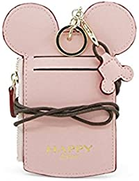 Cute Small Travel Leather Student ID Card Holder Lanyard...