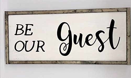 Amazon.com: Be Our Guest wooden framed sign: Handmade