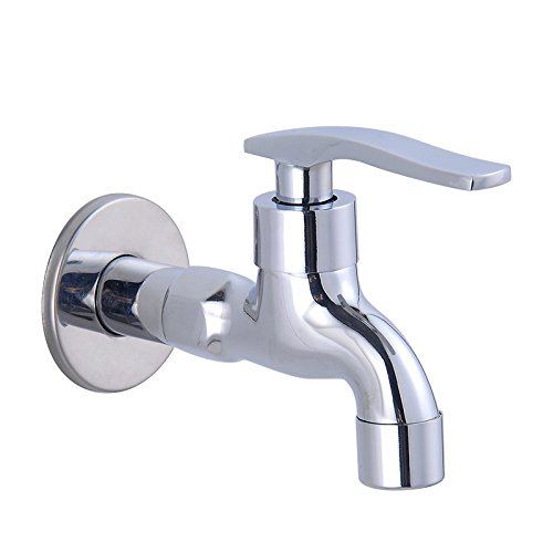 Ling Kitchen Sink Faucets Basin Mixer Faucet Tap Bathroom Faucet Tap A Cold4Fast-Plated Miniature Copper Elongated Silversz8636 Spout Water Pull Out (Single Hole Spout Elongated)
