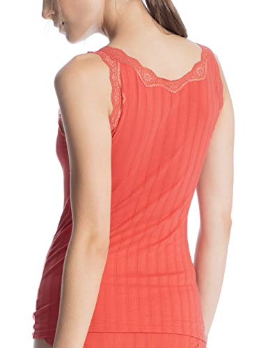 Camiseta Calida Coral De Rojo 115 Etude camellia Toujours Para Mujer Tirantes FFqpwUnrg