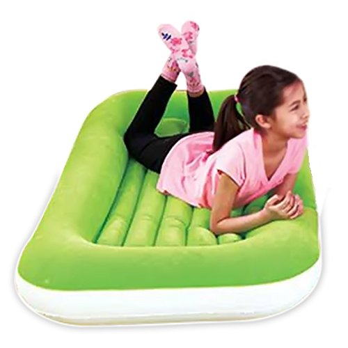 Traveling Crib Toddler Inflatable Air Mattress Bed for Toddlers and Young Kids. Perfect For Sleepovers, Camping, or Movie Night! (Toddler Air)