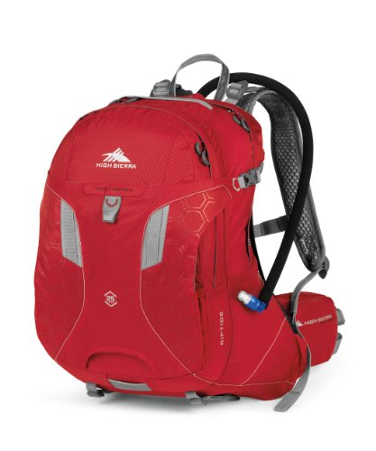 High Sierra Riptide Hydration Pack, Bright Red/Silver, 25-Liter