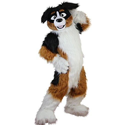 Langteng Fox Dog Husky Long hairyCartoon Mascot Costume