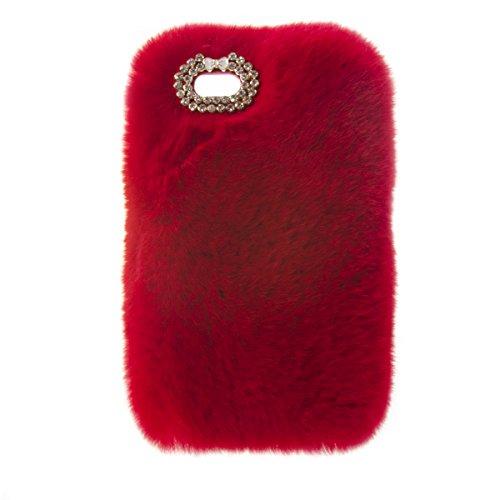 (ZTE Maven 2 case, ZTE Sonata 3 case,ZTE Avid Plus case,Kircher Soft Rex Rabbit Fur Fluffy Plush Back Case For ZTE Prestige)