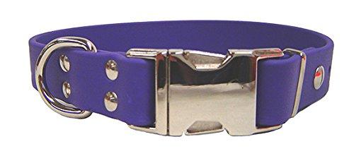 "Auburn Leathercrafters Sparky's Choice Dog Collar Size: 0.75"" x 14"", Color: Violet"