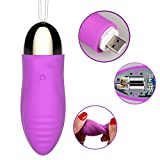 100% Waterproof USB Rechargeable Wireless Vibrator Jump Egg Clitoris Stimulation Orgasm G Spot Vibrator Egg Sex Toys for Women,Purple