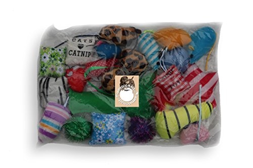 Grab bag CATNIP 24 pieces cat toys bag