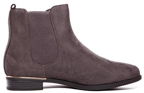 CAPRIUM Stiefeletten Chelsea Boots London Style Schuhe, Damen 000ZH672 Grau  ...