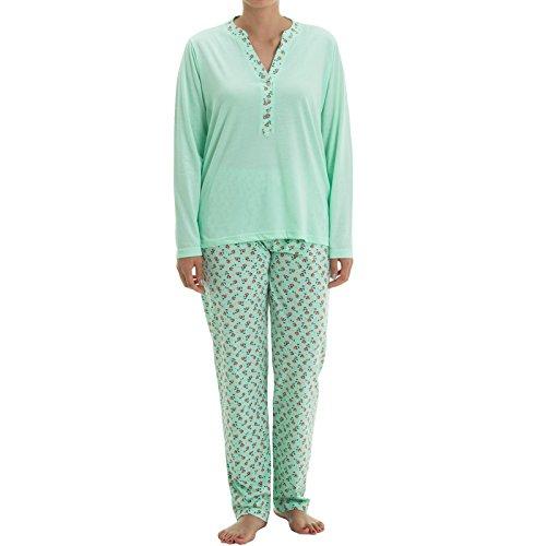 Zeitlos - Pijama - para mujer verde menta