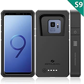 1e0ba496f4a Galaxy S9 Battery Charging Case, ZeroLemon ZeroShock 8000mAh Extended  Battery with Full Edge Protection Rugged Charging Case for Samsung Galaxy  S9 - Black