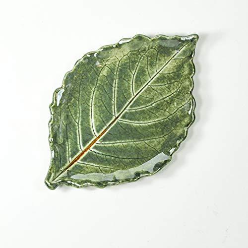 Small Leaf Spoon Rest - Tea Bag Rest - Ring Dish - Handmade Pottery Leaf