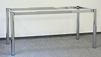 Dynamic24 Kit Complet Armature De Table Pied De Table Chrome 160