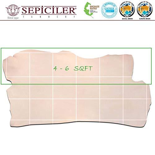 Import Tooling Veg Tan Single Cowhide Leather Shoulder 8/9 oz.4-6 SQF by SEPICI (Image #4)