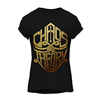 Chaos Theory GOLD-Cool Graphic T-Shirt, Premium Cotton by ZEZIGN
