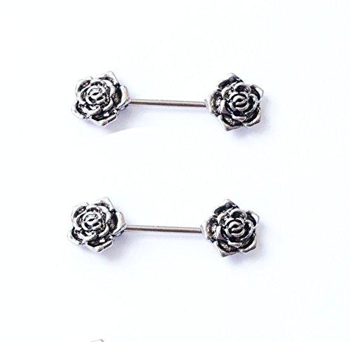 hyidealism pezón anillo bares rosa cuerpo piercing joyas par 14G se vende como par
