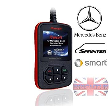 iCarsoft - Herramienta de diagnóstico multisistema para Mercedes-Benz/ Sprinter/Smart, i980 OBD: Amazon.es: Coche y moto