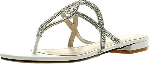 Good Choice Womens Love Bug Fashion Sandals,White/Silver,7
