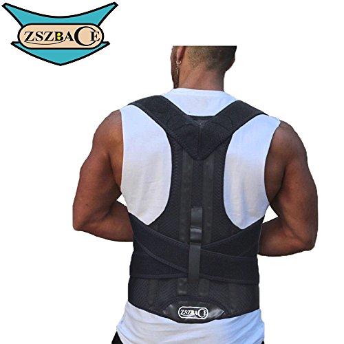 Back Support Posture Corrector, Clavicle Shoulder Support Brace, Prevent Humpbacked Correction Straighten Vest, Improve Bad Posture, Shoulder Alignment (M) by ZSZBACE