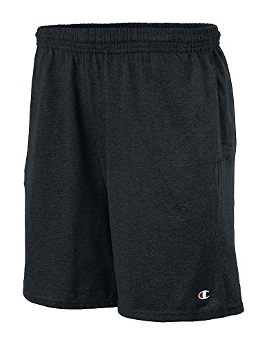 Cotton Jersey Knit Shorts (Champion Big Mens Jersey Knit Short (Black)