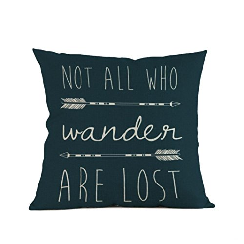 GBSELL Pillow Cover Arrow Printing Pillow Case Cafe Home Party Christmas Decor Cushion (modern C)