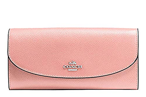 Coach Crossgrain Leather Slim Envelope Wallet - F54009 (Petal/Pink)