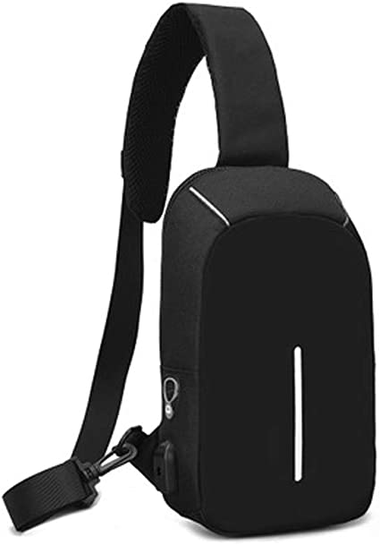 LEAFOREST Sling Backpack USB Port Sling Bag Chest Bag Crossbody Bag for Men
