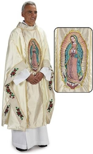 Our Lady of Guadalupe Chasuble (TS416) 51'' Long by Christian Brands