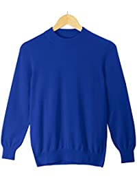 Men's 100% Pure Cashmere Long Sleeve Mock Neck Pullover Sweater