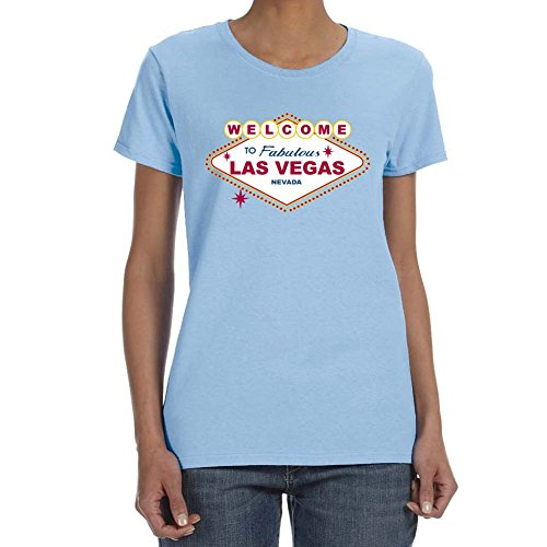 Women's WELCOME TO LAS VEGAS Light Blue T-shirt
