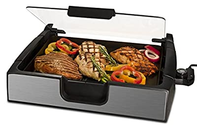 Smart Planet SIG-4 Napa Valley Gourmet Premium Smokeless Stainless Steel Grill, Silver