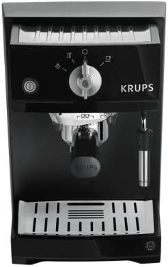 Krups Xp5210 Coffee Maker Coffee Makers Freestanding Ground Coffee Manual Espresso Espresso Machine Black
