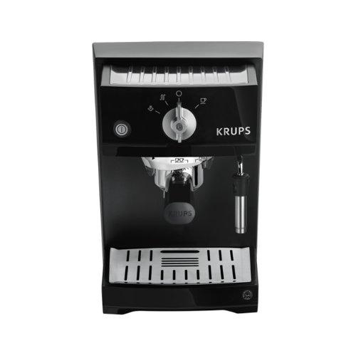 Krups XP5210 - Máquina espresso eléctrica, 1.1L, de café molido, acero inoxidable, negro