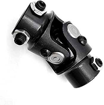 """9//16-26 X 3//4/"""" DD BLACK Double Ford Manual Street Rod Steering U Joint Coupler"""