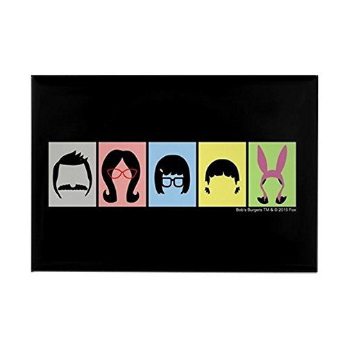 Shirts Refrigerator Magnet (CafePress - Bob's Burgers Silhouettes - Rectangle Magnet, 2