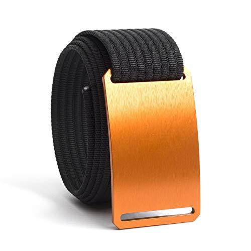 (Men's Web Belt GRIP6 (46in Orange w/Black Strap))